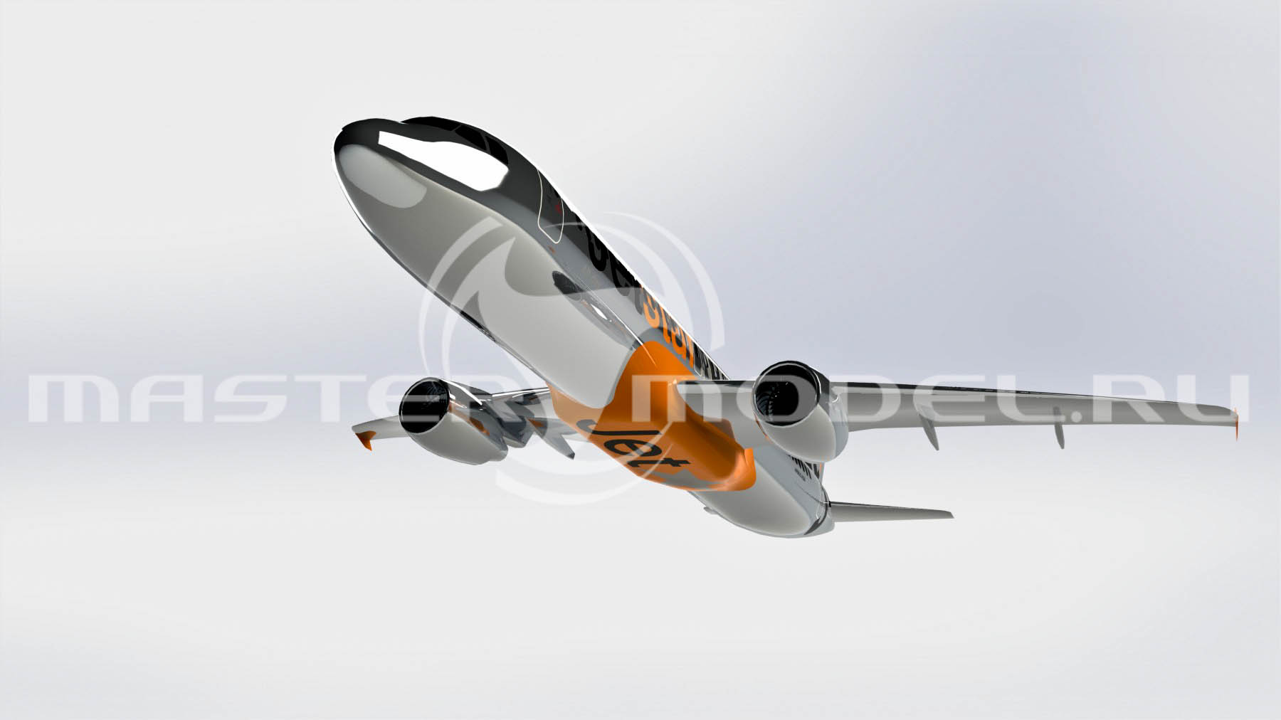 3d модель Airbus A320 SolidWorks