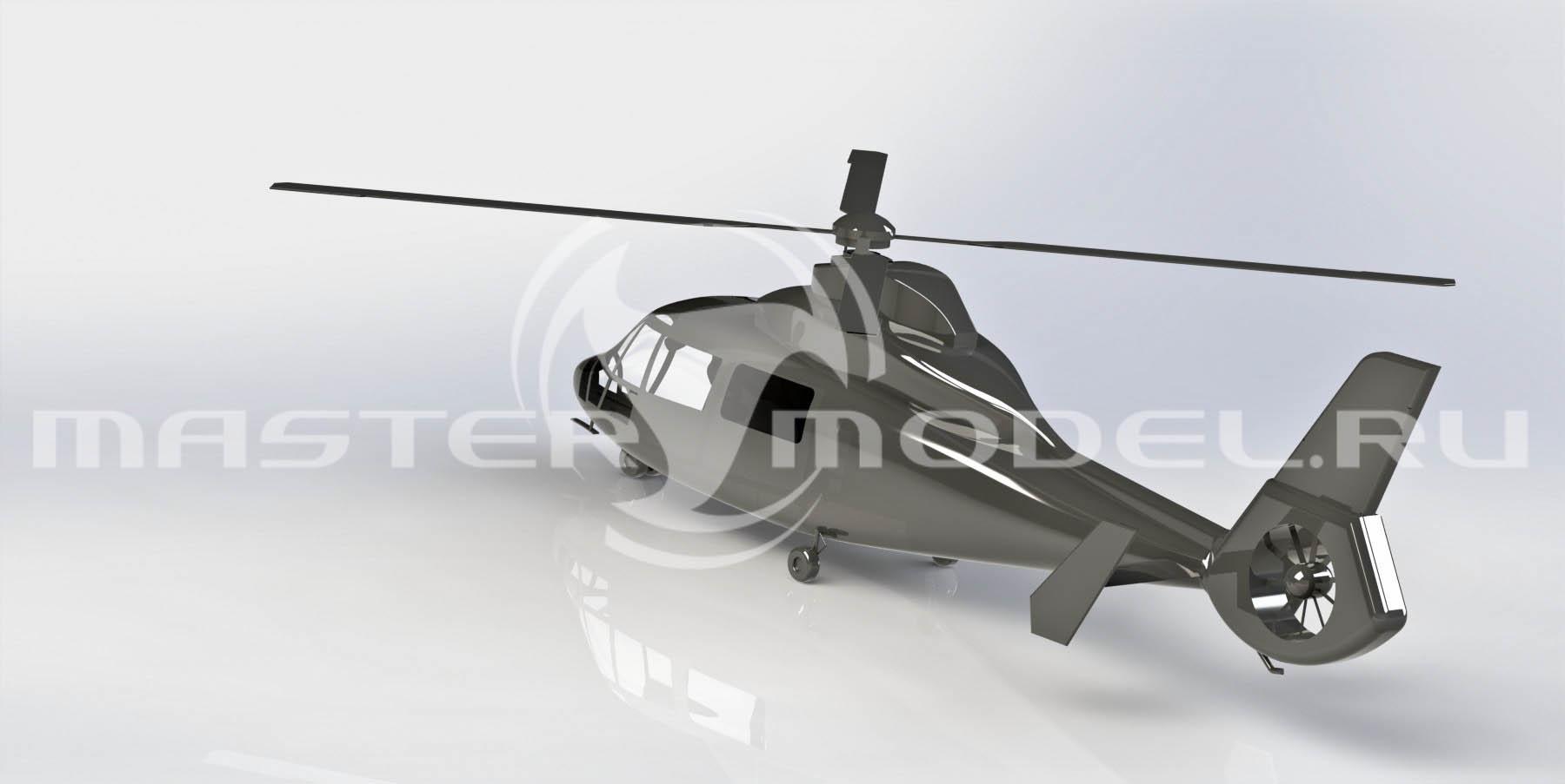 3d модель вертолёта Eurocopter AS365 Dauphin, SolidWorks