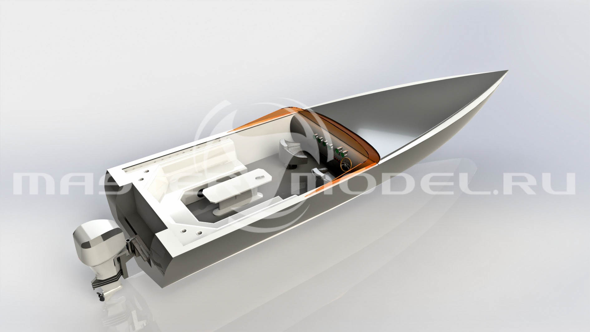 3D модель катера AVASIIT, SolidWorks