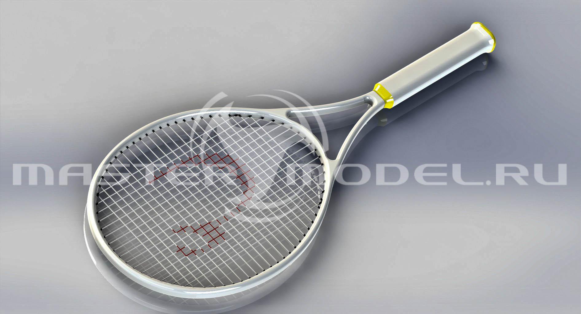 3D модель ракетки для большого тенниса SolidWorks