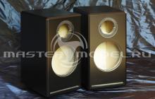 Корпуса акустических систем выполнены из МДФ фрезерованием на станке с ЧПУ