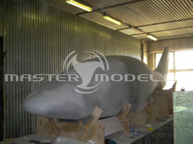 Мастермодель фюзеляжа четырёхместного самолёта выполнена из МДФ