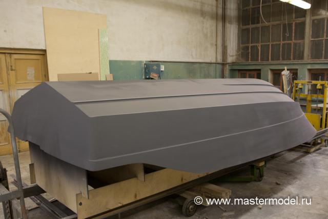 Мастер-модель корпуса катера готова к приёмке заказчиком