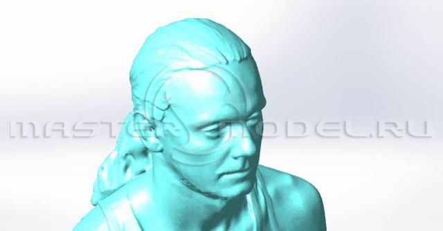 Детализация скульптуры при фрезерной обработке на ЧПУ