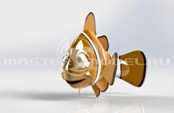 Трёхмерная модель рыбы выполнена в Solidworks
